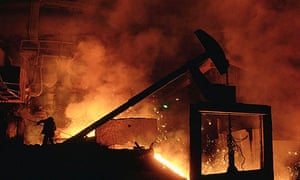 The steel plant in Magnitogorsk, Russia
