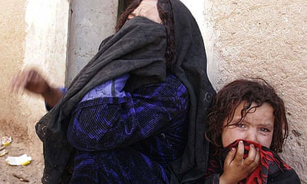 Afghan woman and her daughter