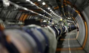 Large Hadron Collider (LHC) tunnel at Cern