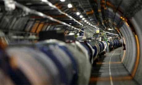 Large Hadron Collider (LHC) tunnel at Cern