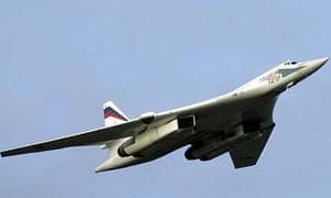 A Russian Tu-160 strategic bomber