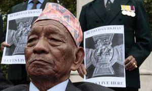 87-year-old retired Gurkha Regimental Sergeant Major Pun Tulbahadur, 2008