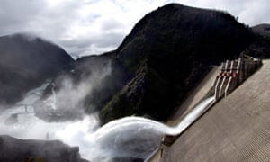 Hydroelectric dam in Chile