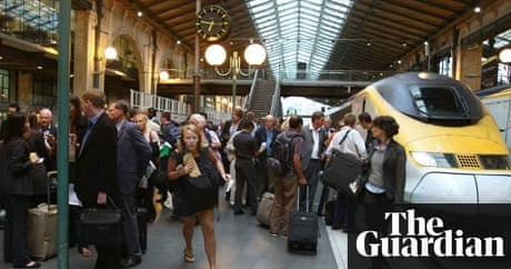 39 send out a rescue party 39 stranded eurostar passengers throng gare du nord travel the guardian. Black Bedroom Furniture Sets. Home Design Ideas