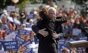 John McCain and Sarah Palin at a rally in Fairfax, Virginia