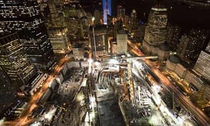 The World Trade Centre site on the seventh anniversary of the attacks