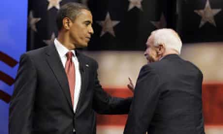 Obama and McCain at Service Nation Summit