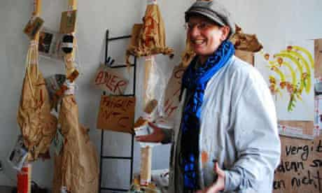 Artist AR Adler in the Tacheles centre squat