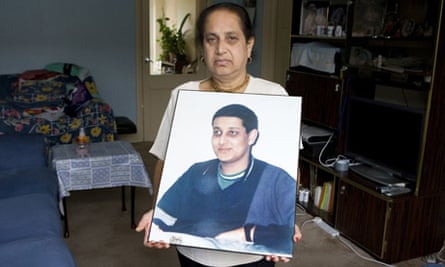 Dipti Chakrabarti, a carer, at home in Essex