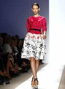A model in skirt
