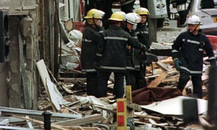 Aftermath of the Omagh blast in August 1998