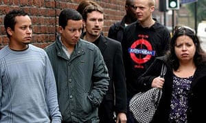 Relatives of Jean Charles de Menezes arrive for the start of the inquest into his death
