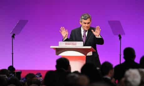 Gordon Brown addresses the Labour Party conference
