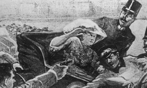 An artist's impression of the assassination of Archduke Franz Ferdinand