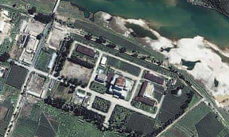 A 2002 satellite image of the Yongbyon nuclear reactor in North Korea