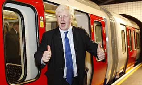 London mayor Boris Johnson unveils the new air conditioned tube carriages