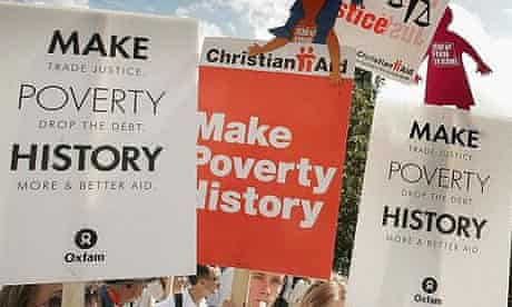 The Make Poverty History march in Edinburgh, Scotland, leading up to the 2005 G8 Summit in Gleneagles