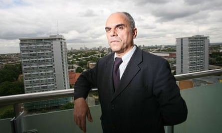 Agim Sekiraga on the balcony of his flat in Westminster: 'We felt secure. It's a disaster'