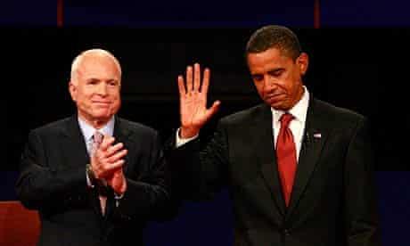 US election campaign: Barack Obama and john Mccain