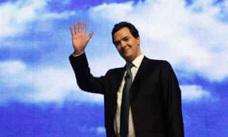 Shadow chancellor George Osborne addresses the Conservative party conference