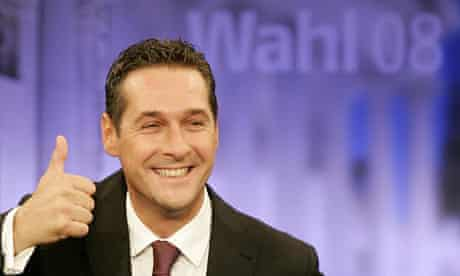 Heinz Christian Strache, the leader of the Austrian Freedom party