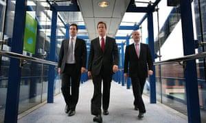 Cameron, Osborne and Hague walk to ICC