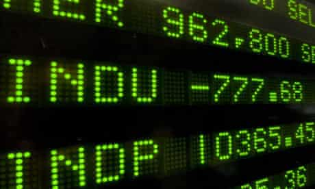 A board at the New York Stock Exchange on Wall Street displays the Dow Jones final numbers on September 29 2008