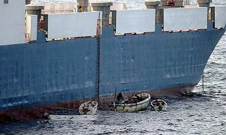 Somali pirates hijack the MV Faina, a Ukrainian cargo ship.
