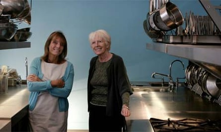 Ruth Rogers and Rose Gray at the reopened River Cafe, 2008