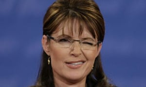 Sarah Palin winks to the audience at the VP debate