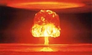 Nuclear explosion over Bikini Atoll