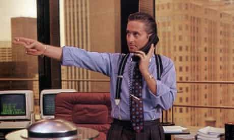 Michael Douglas as Gordon Gekko in Wall Street