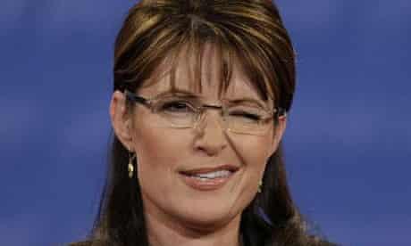 Sarah Palin, winking