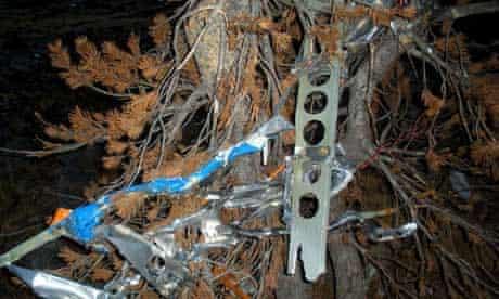 Wreckage from Steve Fossett's plane