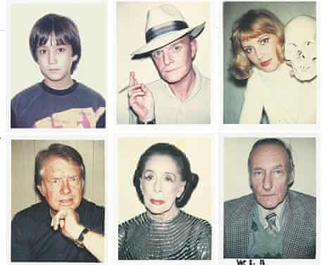 Polaroid pictures by Andy Warhol