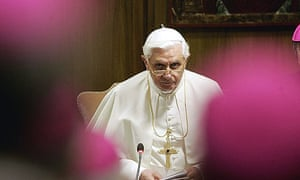 Pope Benedict XVI, seen, during the works of a meeting of 253 bishops at the Vatican.