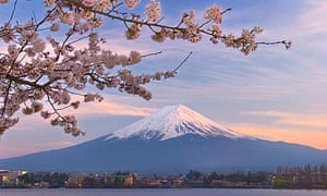 Sunrise over Mount Fuji