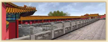 Graphic view of the Forbidden City