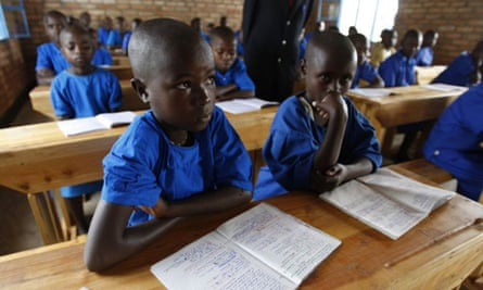 Pupils in a school in Rwanda
