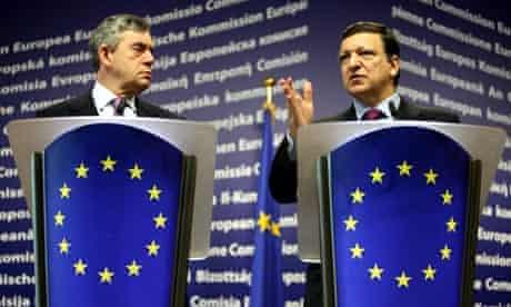 Gordon Brown meets José Manuel Barroso