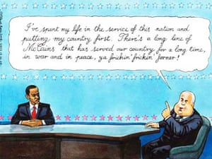 17.09.08: Steve Bell on the final debate between Barack Obama and John McCain