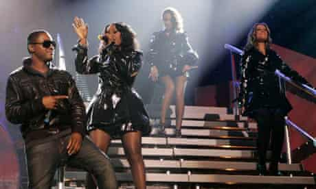Sugababes perform with Taio Cruz the MOBO awards 2008
