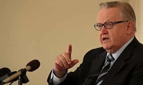 Former Finnish President Martti Ahtisaari