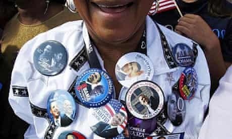 A supporter of US Democratic presidential nominee Senator Barack Obama in St Louis