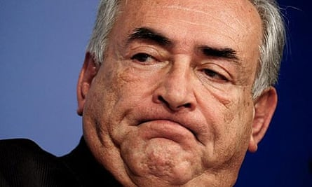 The IMF managing director Dominique Strauss-Kahn