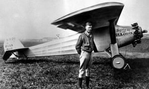 harles Lindbergh poses with his plane The Spirit of St Louis in 1927