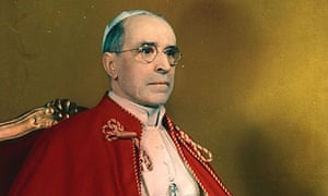 A portrait of Pope Pius XII