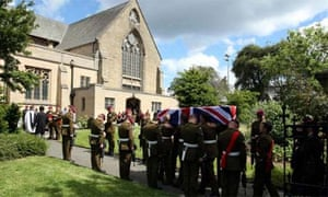 The 2nd Battalion The Parachute Regiment (2 Para), carry the coffin of Private Nathan Cuthbertson, June 20, 2008