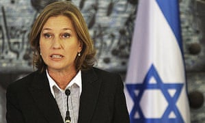 Israel's foreign minister, Tzipi Livni, at a news conference in Jerusalem
