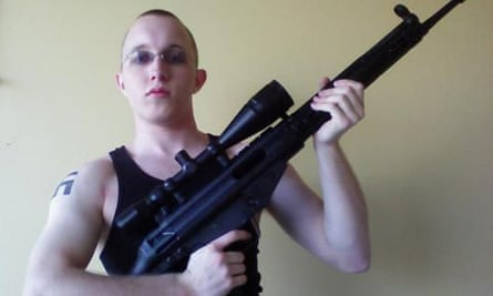 Daniel Cowart, 20, pictured on MySpace holding a weapon